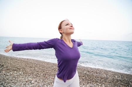 Woman Enjoying Freedom photo