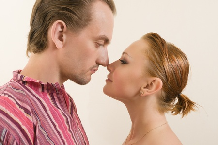 rubbing noses: Touching noses