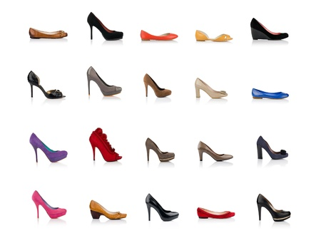 the sole of the shoe: Fashionable female shoes