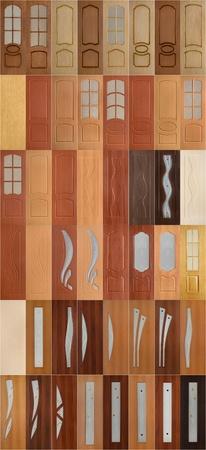Interior doors collection Stock Photo - 11789932