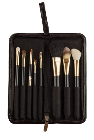 Makeup artist brush kit photo