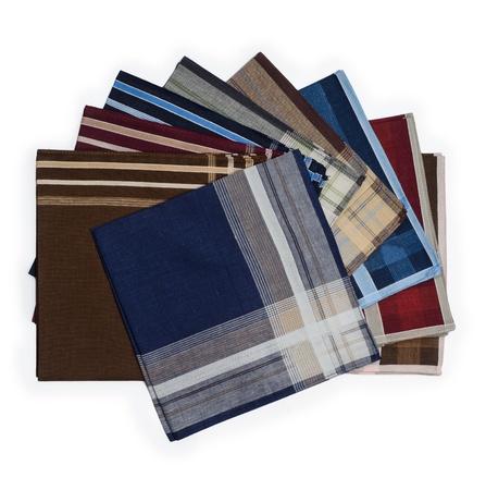 Set of many handkerchiefs Standard-Bild