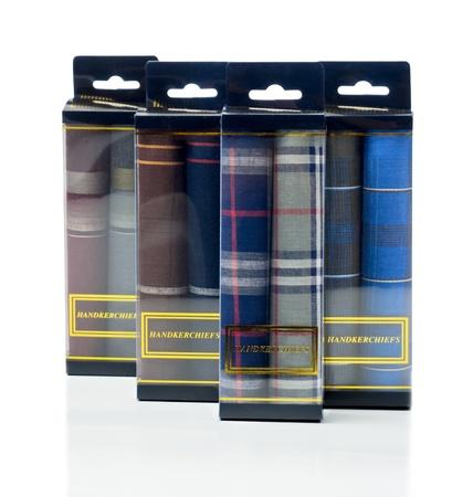 handkerchiefs: Set of many handkerchiefs Stock Photo