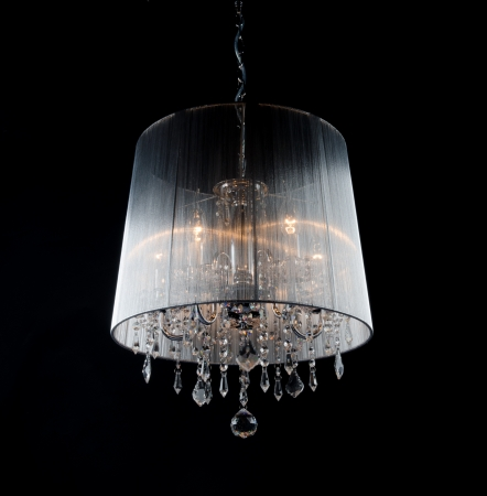 chandelier isolated: Contemporary chandelier