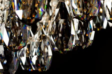 Ara�a moderna cristales de vidrio closeup