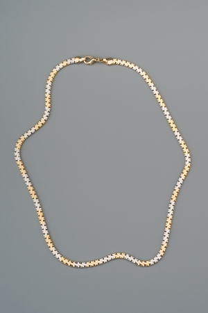 gray background: Luxury necklace on gray background Stock Photo