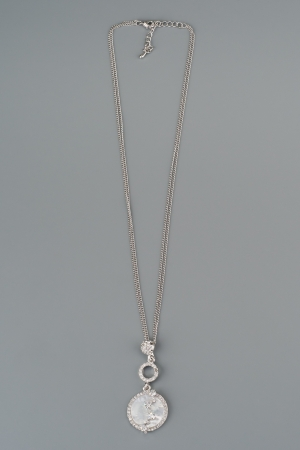 Silver pendant with gem Stock Photo