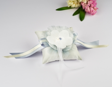 Beautiful pillow for wedding rings photo