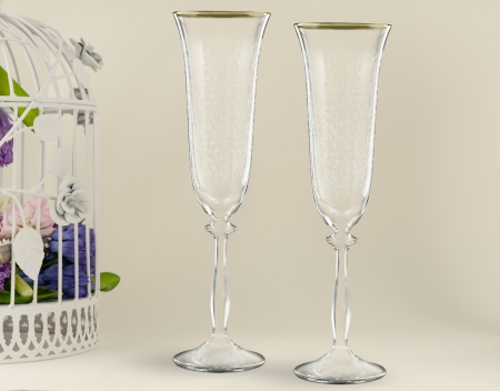 Fancy wedding goblets photo