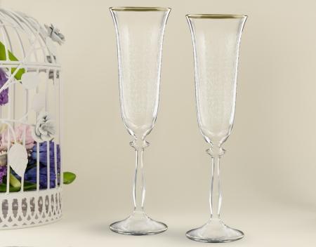 stemware: Fancy wedding goblets