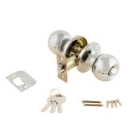 Door Knob assembly on White Background photo