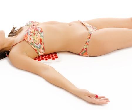 Woman doing self massage Stock Photo - 20104635