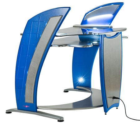 Ordinateur de bureau ou poste de travail moderne photo