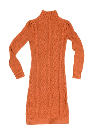 Woman knit dress photo