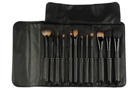 defining: professional cosmetic brushes Stock Photo