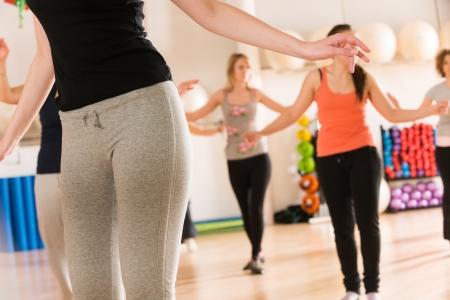 Dance class for women Standard-Bild