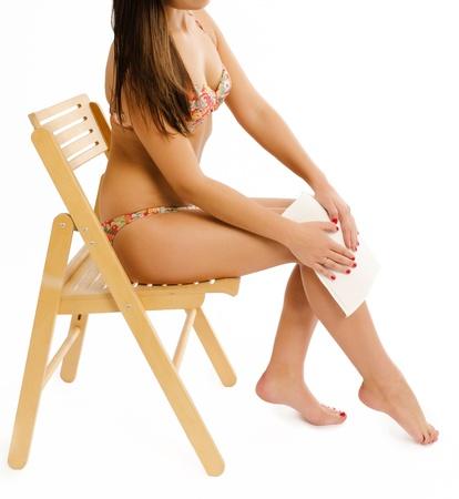 Woman doing self massage Stock Photo - 20180898