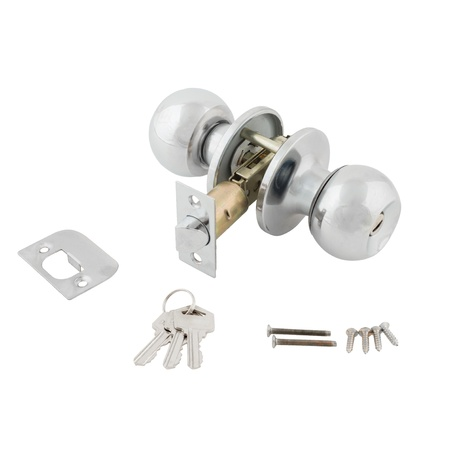 Door lock assembly with bolts and keys on White Background photo