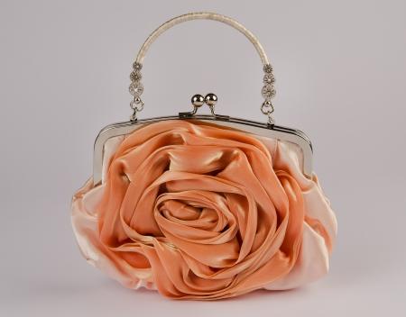 Woman  handbag on gray background