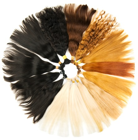 Uitbreidingen kleuren geïsoleerd op een witte achtergrond Stockfoto - 23019301