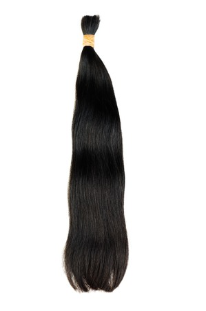 Extensions for dark hair isolated on a white background