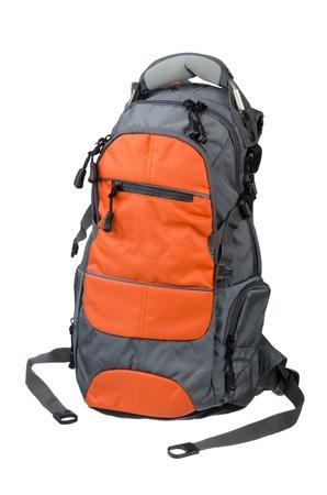 Modern Backpack closeup shot over white background Standard-Bild