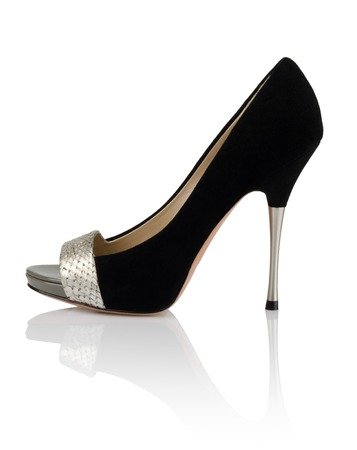 Modern fashionable women shoe shot in studio photo