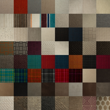 Textile chart with many color and texture samples photo
