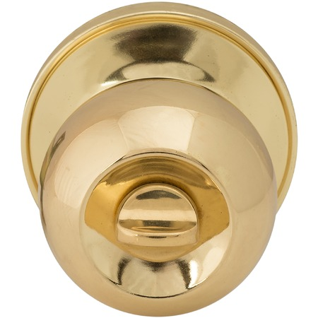 Golden Door knob macro shot isolated on white background