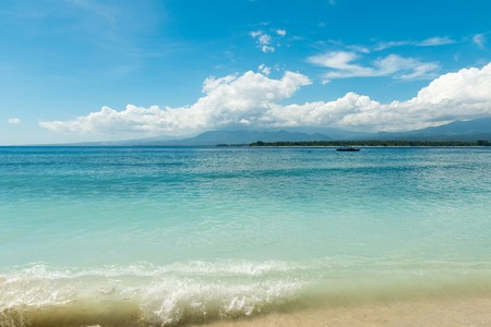 Serene tropical beach of Gili Trawangan, Indonesia photo