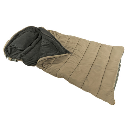 Saco de dormir caliente aislado en blanco baground