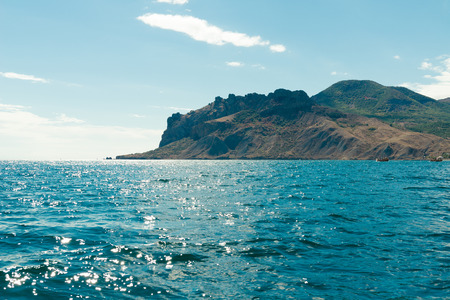 Karadag mountain in Crimea. View from the sea