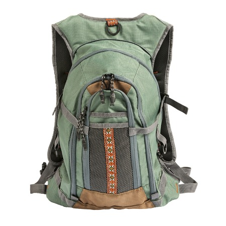 haversack: Large tourist or fisherman backpack isolated on white  Stock Photo