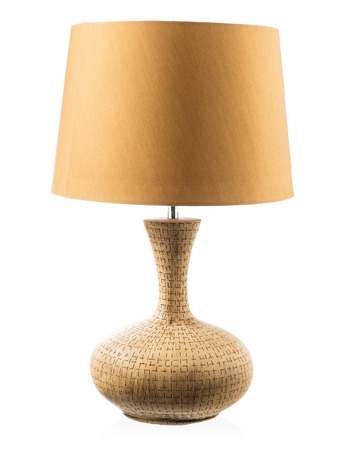 Modern table lamp isolated on white photo