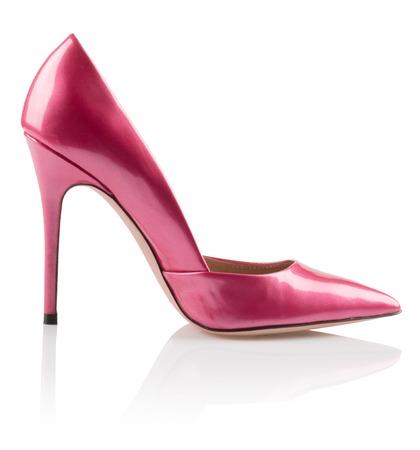 Modern fashionable pink women shoe shot in studio