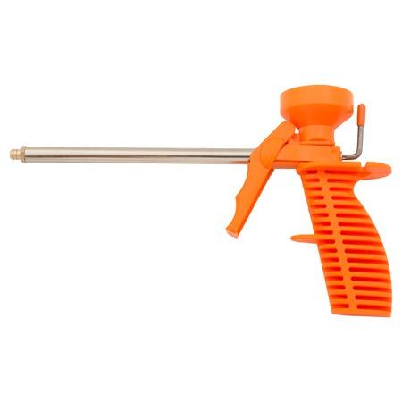 Adhesive foam gun pistol isolated on white background photo