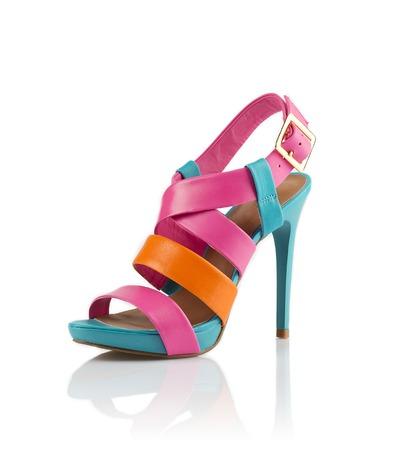 Modern fashionable women shoe shot in studio Standard-Bild