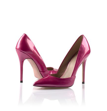 Pair of modern fashionable women shoes shot in studio