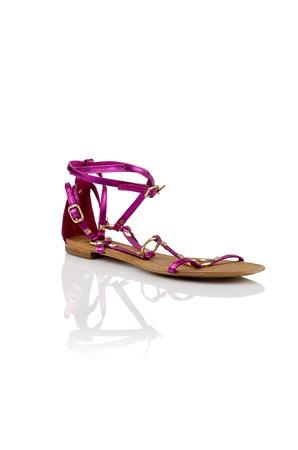 opentoe: Modern womens fashion shoes isolated on white background