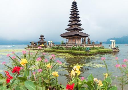 ulun: Water temple at Bratan lake, Bali. Pura Ulun Danu Beratan