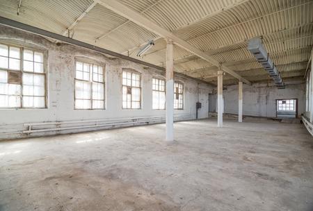Leere Lager Büro oder Gewerbegebiet, industriellen Hintergrund Standard-Bild