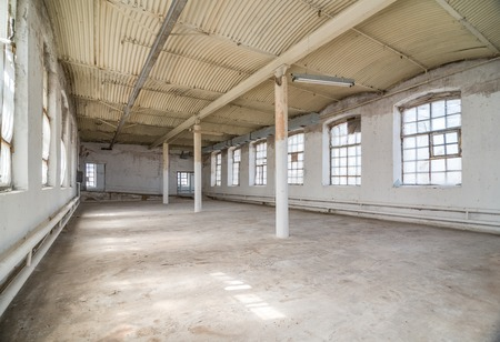 empty warehouse: Empty warehouse office or commercial area, industrial background