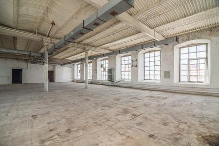 빈 창고 사무실이나 상업 지역, 산업 배경