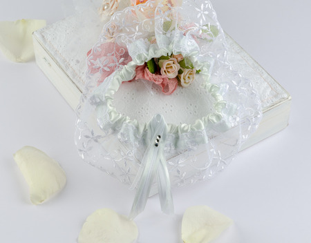 The garter of the bride prepared for wedding day