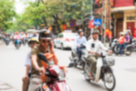 central square: Hanoi piazza centrale sfondo sfocato con bokeh