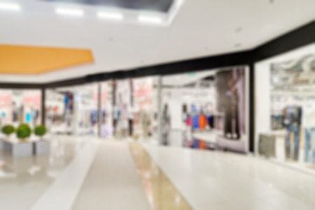 Shopping mall theme abstract blur background with bokeh