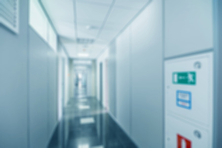 Common generic office building interior blur background photo