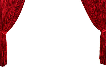 room for your text: Red theater curtains from both sides with room for your text or image copyspace background