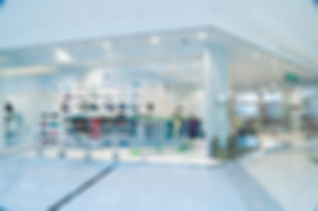 clothing store: Abstract blur background. Clothing store in large shopping mall