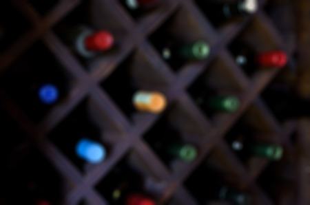 Restaurant wines abstract blur background